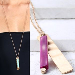 Jewelry - ⚜️B T Q | NEW! Metal Accent Pendant Long Necklace